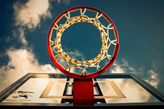 Blue sky basketball hoop - Explored (J.K. Hering Photography) Tags: blue sky net sports basketball clouds hoop backboard circle colorful bluesky explore basketballhoop uniqueperspective explored goalrilla efs1855mmf3556is winnerbc