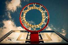 Blue sky basketball hoop - Explored (J.K. Hering Photography) Tags: blue sky net sports basketball clouds hoop backboard circle colorful bluesky explore basketballhoop uniqueperspective explored goalrilla efs1855mmf3556is winnerbc