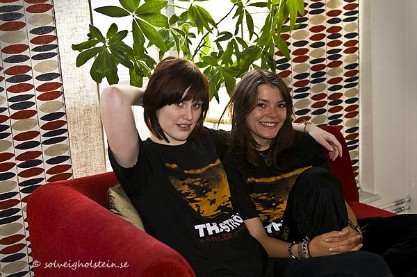 Annie och Julia 21.3.09