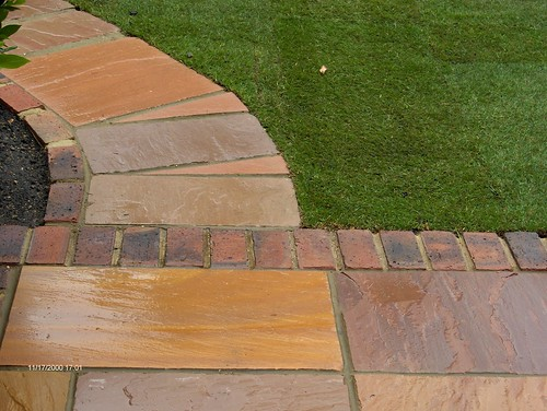 Indian Sandstone Patio and Lawn Image 26