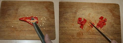 12 - Chili entkernen und schneiden