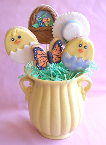 Easter Cookie Pops Bouquet