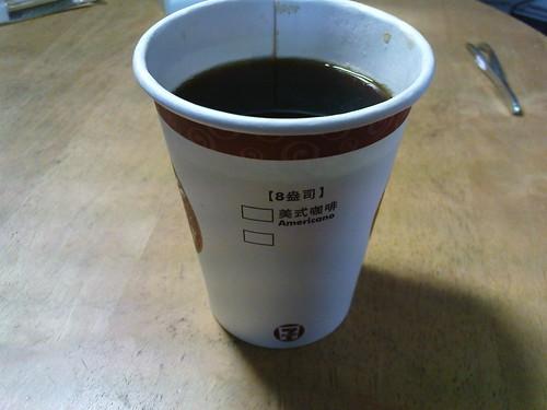 城市咖啡的美式咖啡