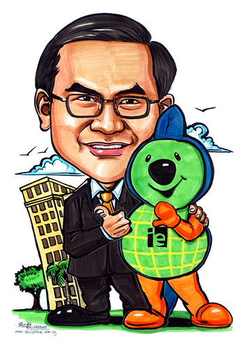 Caricature for IE Singapore TeamIE
