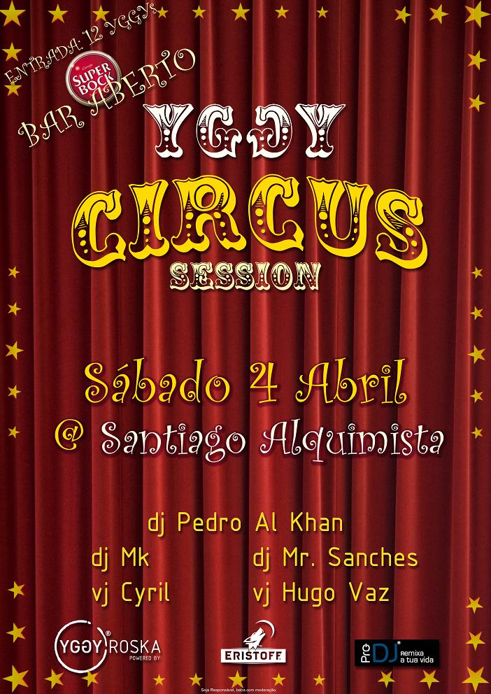 Yggy Circus Session - Flyer