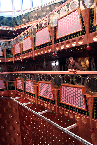 Mike, Looking over Atrium (Carnival Splendor)