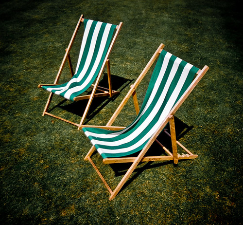 Deckchairs on the lawn