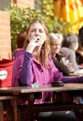 Fumar es un placer (carlos_ar2000) Tags: street woman coffee argentina girl beauty bar calle cafe mujer buenosaires chica posing smoking bella smoker posando puertomadero fumando fumadora urban8