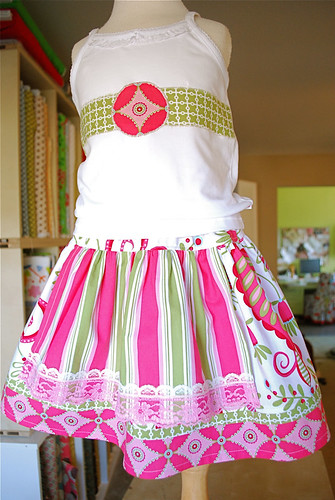 Evelyn Apron Skirt with Whimsy