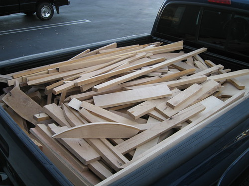 truck bed full of mostly alder scraps