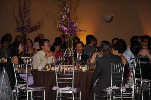 Guests enjoying grub