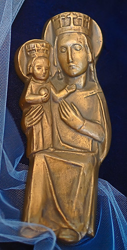 "Brass, ""Mariazell"", made in Austria, from the collection of the Marianum, photographed at the Cathedral of Saint Peter, in Belleville, Illinois, USA"