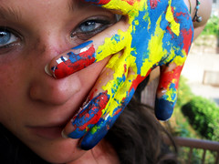 Colorful Eye Photography Colors Painting Eyes Hands