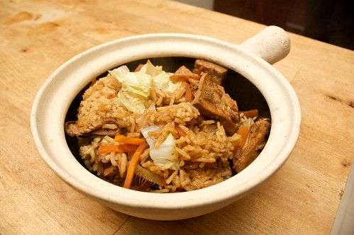 claypot tofu rice