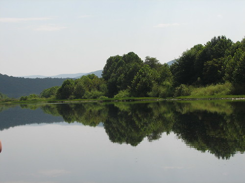 an area of calm water
