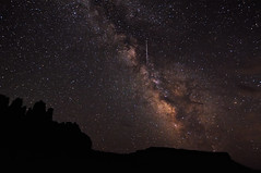 Flare in the Milky Way over Utah (Fort Photo) Tags: sky nature silhouette night way stars landscape star utah ut nikon nightscape satellite astrophotography flare astronomy milky 2009 nocturne afterdark milkyway fishertowers iridium d300 iridiumflare Astrometrydotnet:status=failed tokina1116 Astrometrydotnet:id=alpha20090837623720