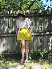 circus friendly (bloomingleopold) Tags: summer yellow vintage nashville lace thrift etsy 1970s 1980s ruffle boater forever21 bloomingleopold