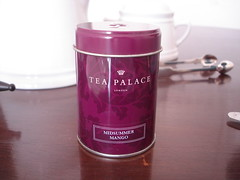 chá preto aromatizado com manga