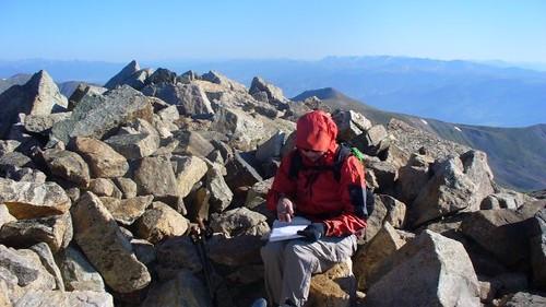Mt. Columbia (14,073 ft) Register Signing