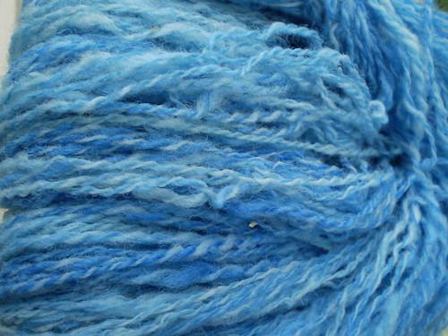 Blue Texel yarn