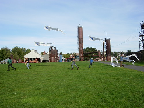 Gasworks Park - Kite Practice