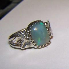 Cerridwen Harvest ring Crystal opal (leespicedragon) Tags: original art stone silver handmade oneofakind ooak magic jewelry ring spiritual magical jerelry marvinleebillings