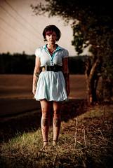 cara mia xo (metakephoto) Tags: birds blood women alone fear horror thebirds rockabilly pinup attacked pecked metakephoto jeffmawer caramiaxo