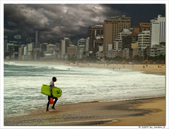 Ipanema belongs to the surfers (Jordan_K) Tags: brazil praia beach colors beautiful lost flickr solitude waves mood artistic jordan monica feeling ipanema surfin