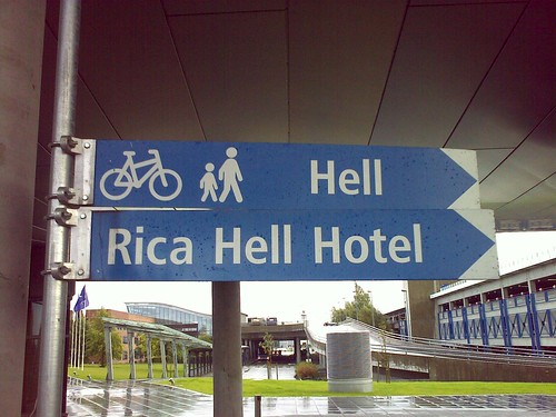 Sign to Rica Hell Hotel