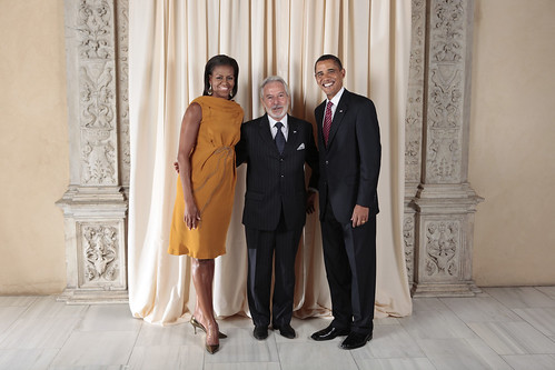 Minister of Foreign Relations for Nicaragua with the Obamas