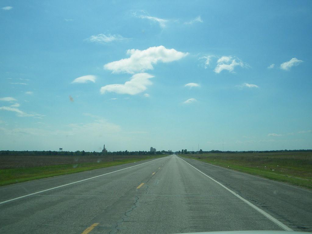 Trucking it through Kansas.