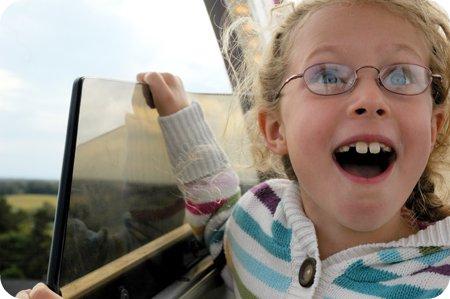 on the ferris wheel at the Carp Fair