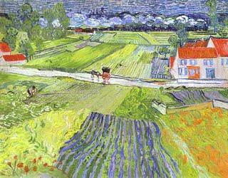 """Vicent Van Gogh: """"Carretera en Auvers Tras la lluvia"""" (1890).  Moscú.  porción Carolina156"""