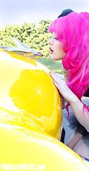 KELLY EDEN YELLOW (PUNKassPHOTOS.com) Tags: show pink green classic beautiful car yellow vintage mint denver retro stunning vehicle easthighschool immaculate easthigh rockinbones kellyeden
