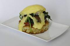 Breakfast Stack (Nati's Cakes) Tags: breakfast vegetarian spinach hashbrown glutenfree hollandaisesauce breakfaststack