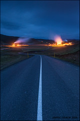 On the road 16 (Andras Gyorosi) Tags: road longexposure travel light sky sun mountain night clouds landscape island iceland nikon strada nuvole nightshot smoke adventure filter cielo lee bluehour sole filters geothermal montagna ontheroad viaggio notte luce paesaggio centrale belin fumo izland andras islanda filtro krafla avventura gnd orablu lungaesposizione filtri d700 geotermale andrasgyorosi gyorosi belinspa
