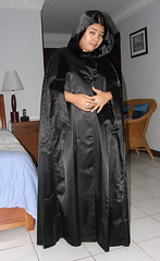 Arm Slits (johnerly03) Tags: black fashion asian boots philippines rubber cape filipina satin knee patent erly