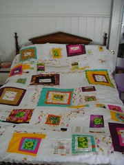 Wonky log cabin quilt before stippling (Ms.Alleycat) Tags: quilt logcabin mendocino patchwork wonky heatherross franklinpalooza
