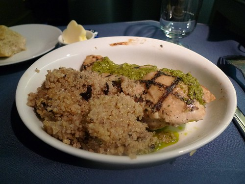 Grilled Chicken Breast with Eggplant Strewn Quinoa