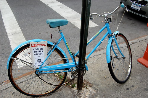Cute turquoise girls' bike