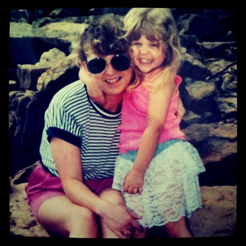 Me and Mama 21 years ago. Workin' it. Obviously.