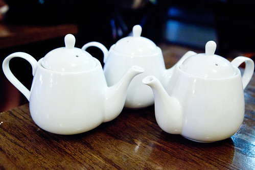 Trio of teapots
