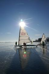 ijszeilen (MijnNaamisHaze/foto) Tags: icesailing gouwzee ijszeilen