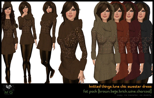 [MG fashion] knitted things collection.lune chic sweater dress (fatpack01)