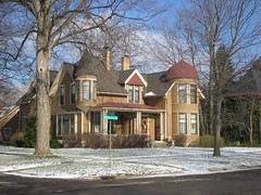 Multi-Towered House (neshachan) Tags: house snow building tower architecture mi michigan towers historic marshall dome turret twotowers domed marshallmi houseswithtowers