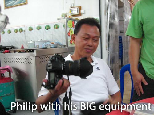 Philip with his Big Equipment