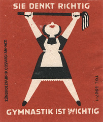 east german matchbox label (maraid) Tags: sport germany exercise label east cleaning health gymnastics german packaging ddr fitness mop matchbox