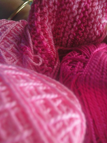 Scraps in pink cotton