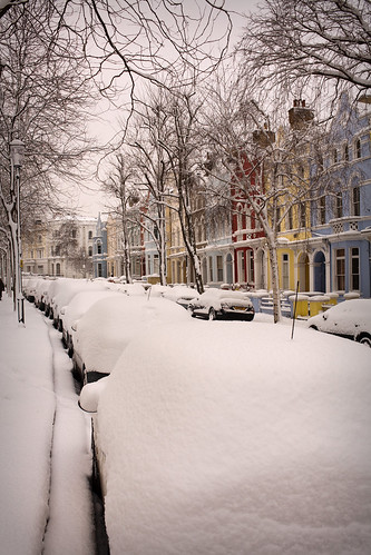 London Street, in the Snow by Ben Oh, on Flickr