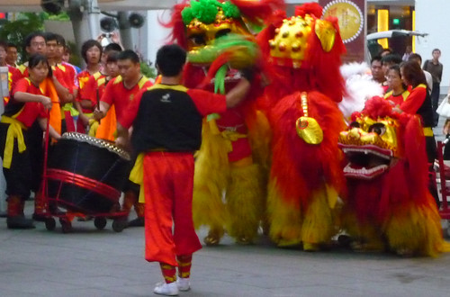 Lion Dancers, Lunar New Year, Singapore